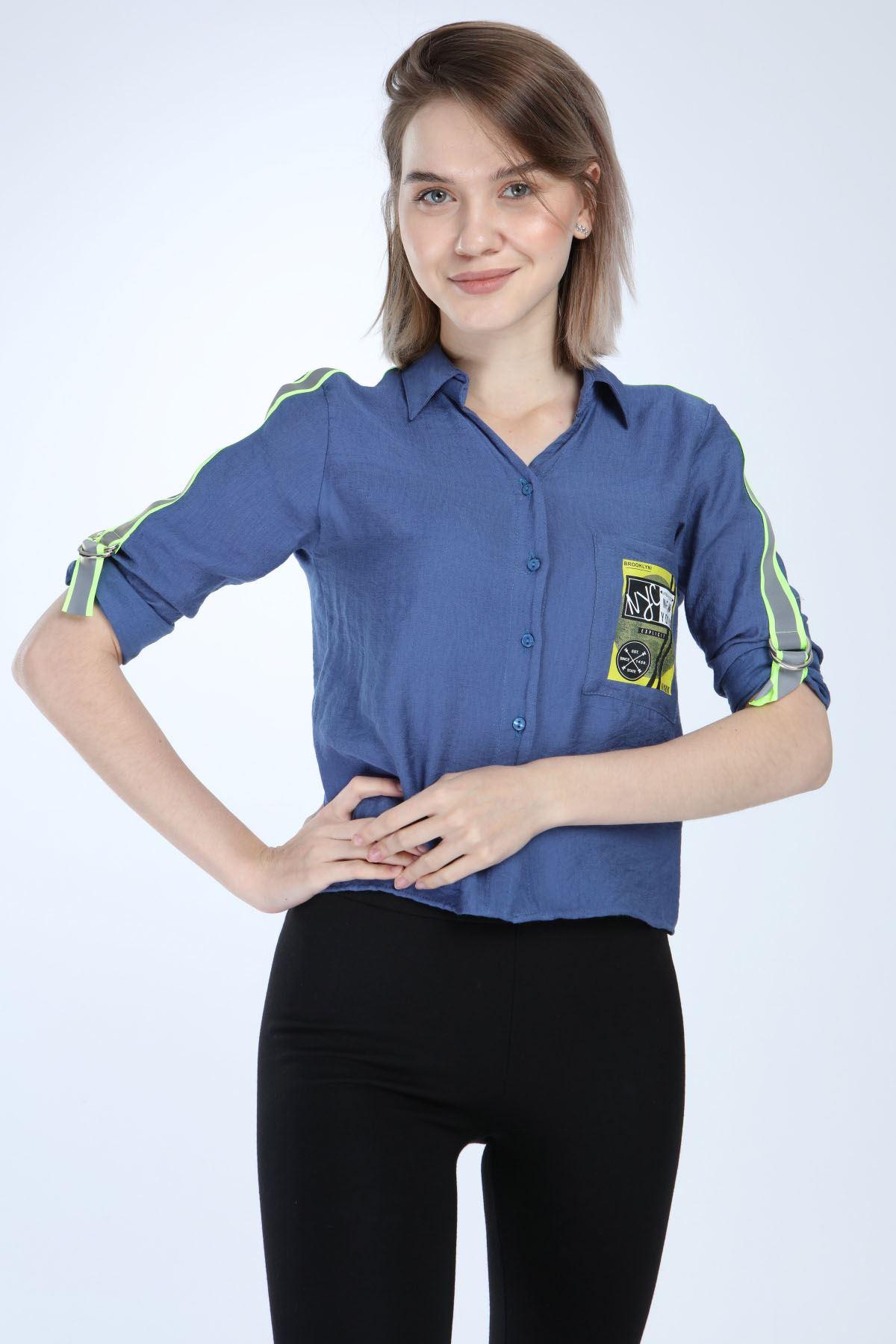 Mavi Spor Gömlek 4D-1011