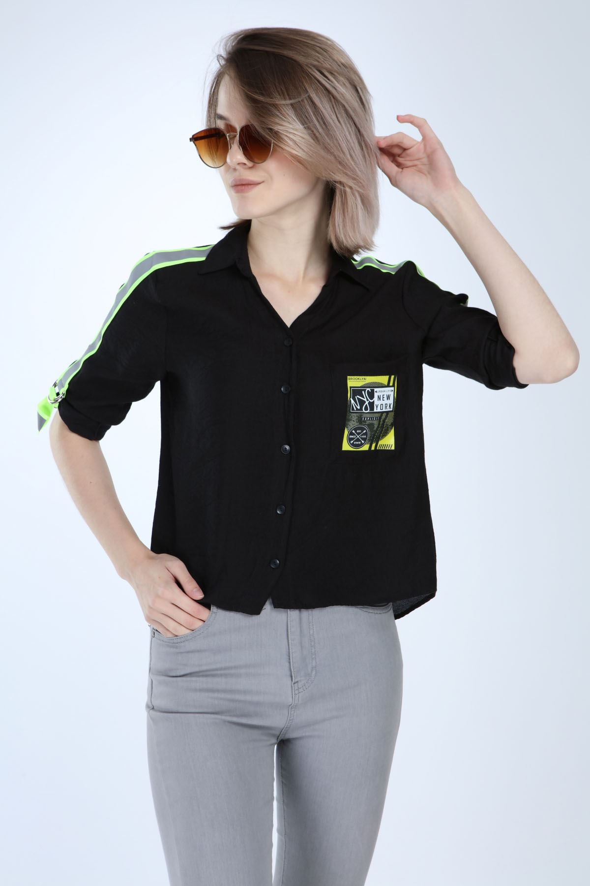 Siyah Spor Gömlek 5C-1013