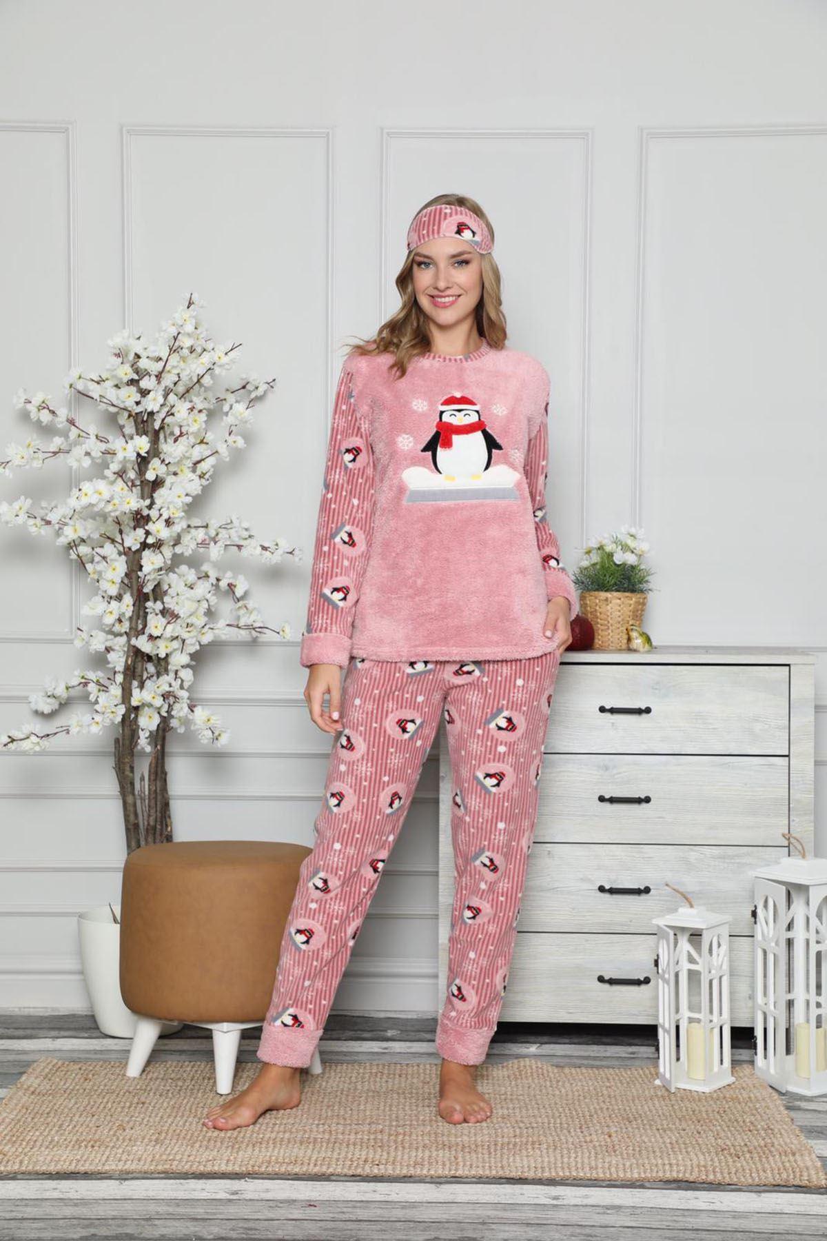 Pembe Welsoft Polar Pijama 13C-9047