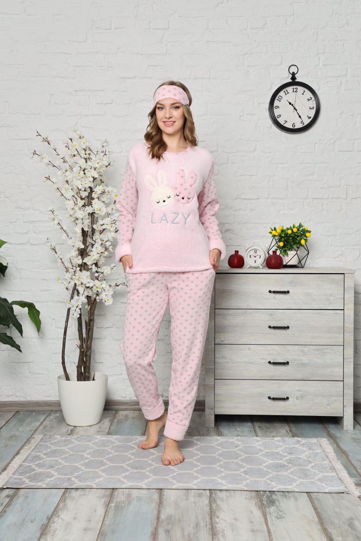 Pembe Welsoft Polar Pijama 14C-9000