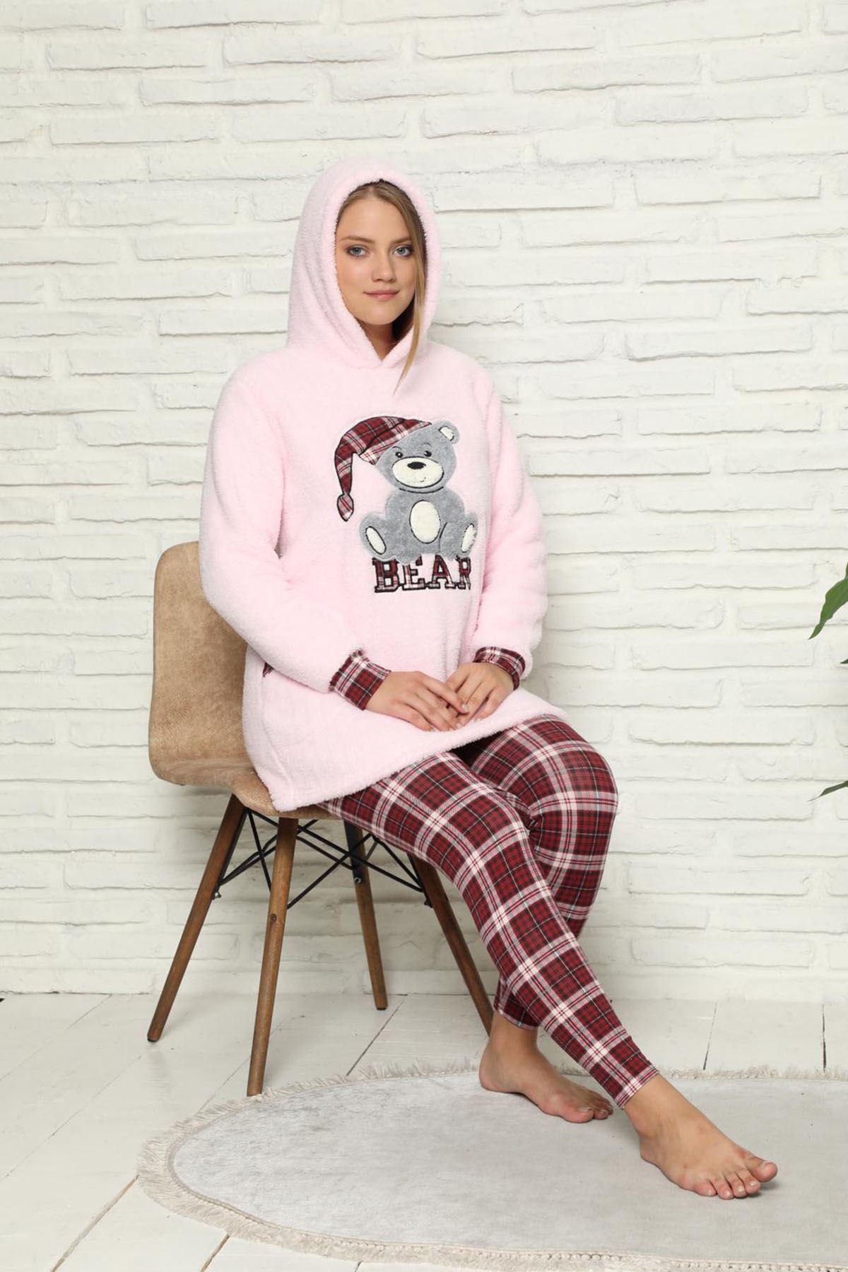 Pembe Welsoft Polar Pijama 14C-59037