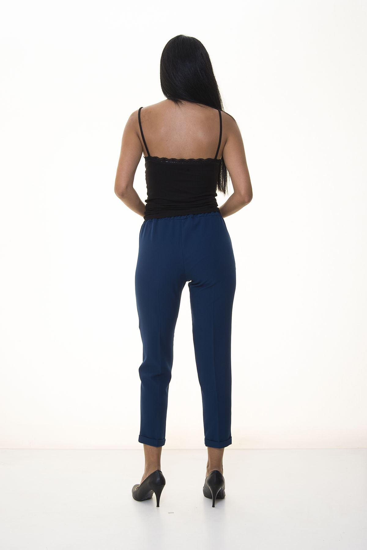 Koyu Mavi Double Paça Pantolon 7C-1063
