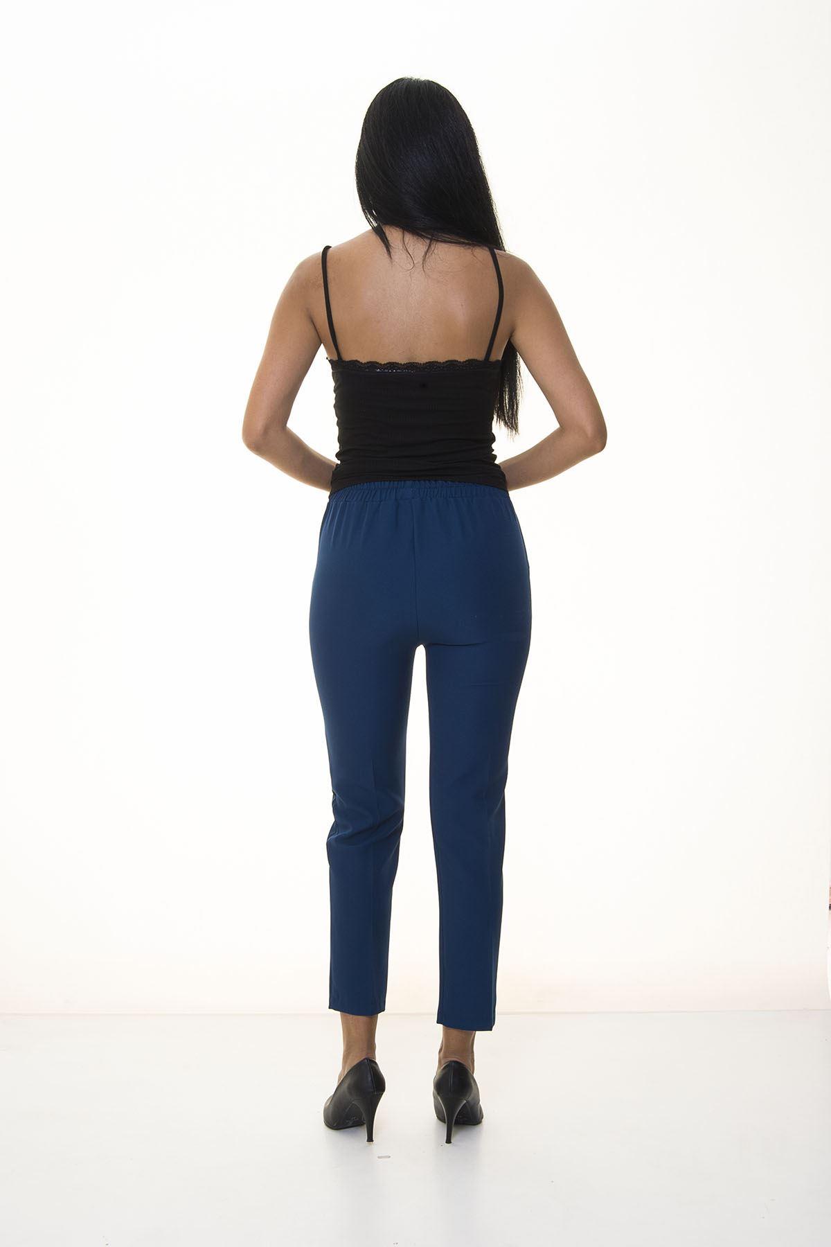 Mavi Beli Lastikli  Pantolon 6D-1056