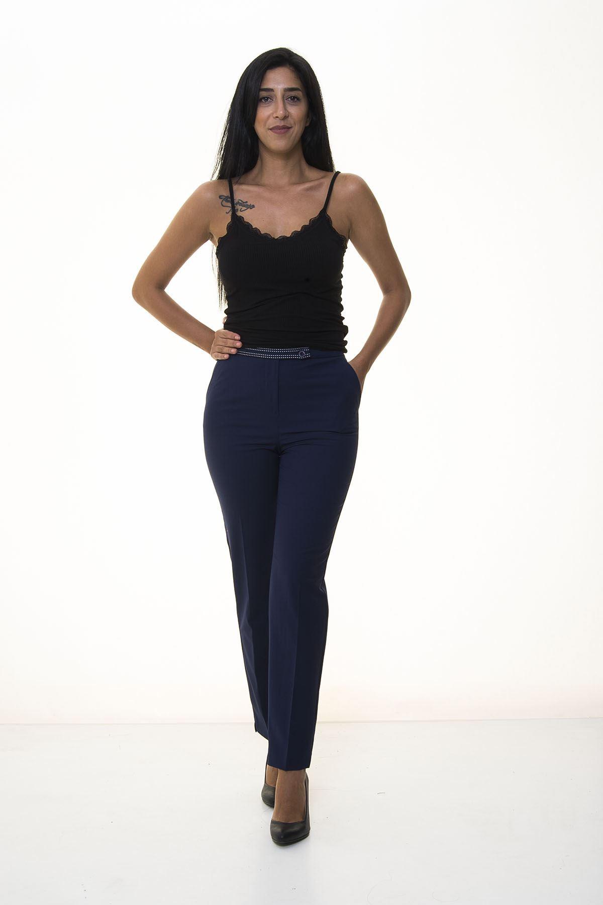Lacivert Kumaş Pantolon 5C-1034