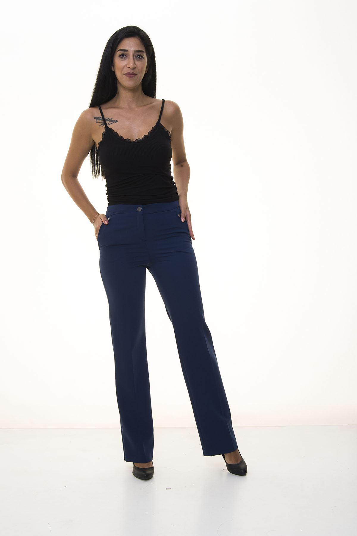 Lacivert Kumaş Pantolon 5C-1032