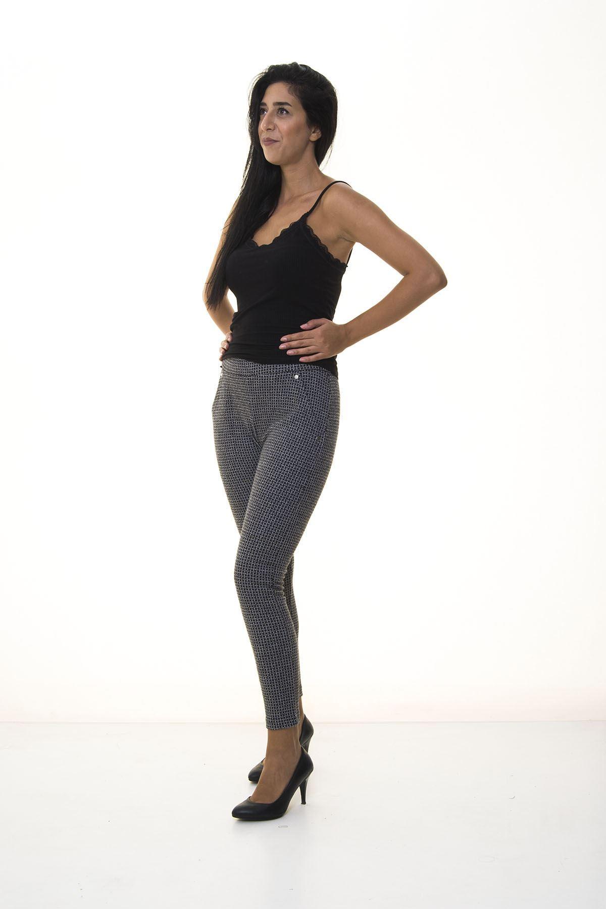 Siyah Desenli Kışlık Pantolon 2E-1074