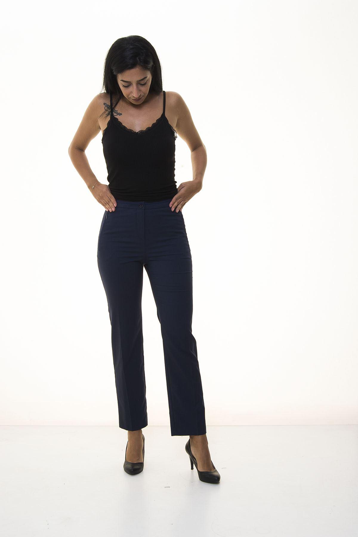 Lacivert Kumaş Pantolon 5C-1035