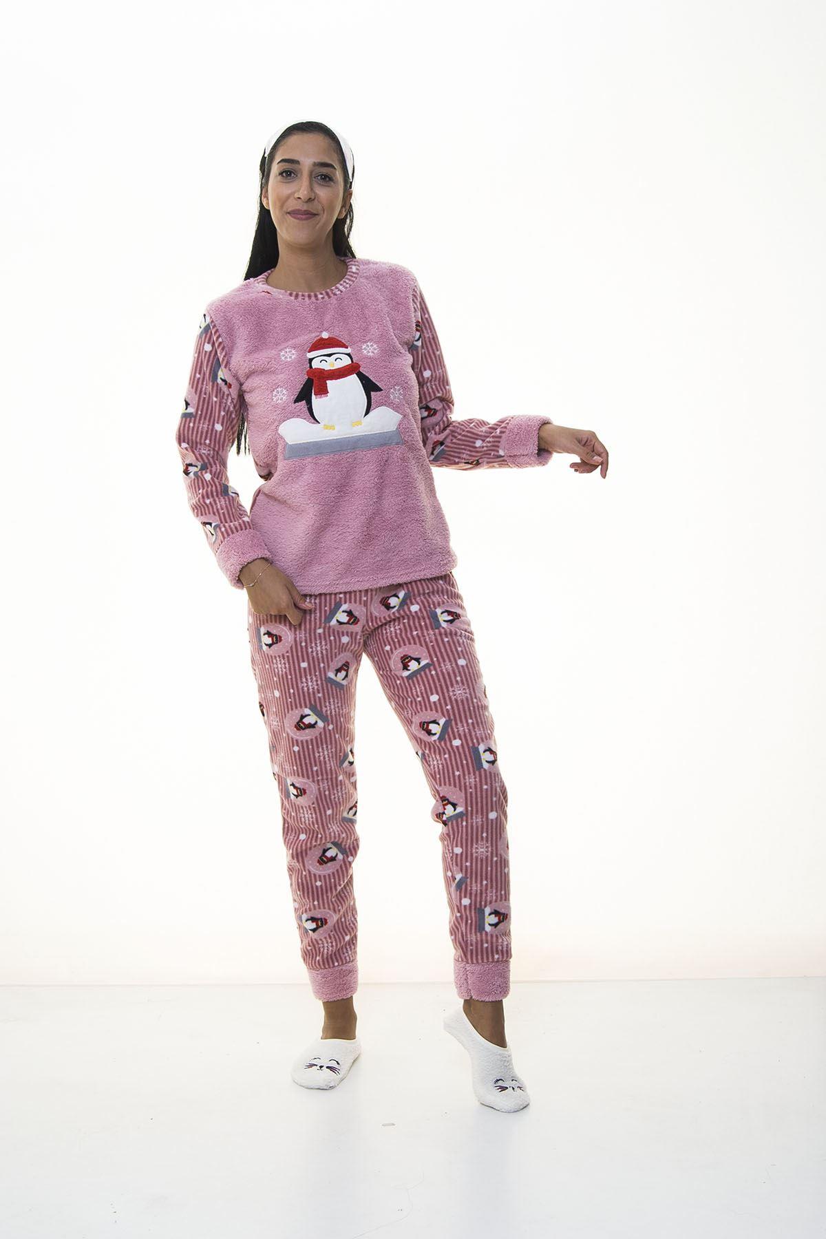 Pembe Welsoft Polar Pijama 13C-1100