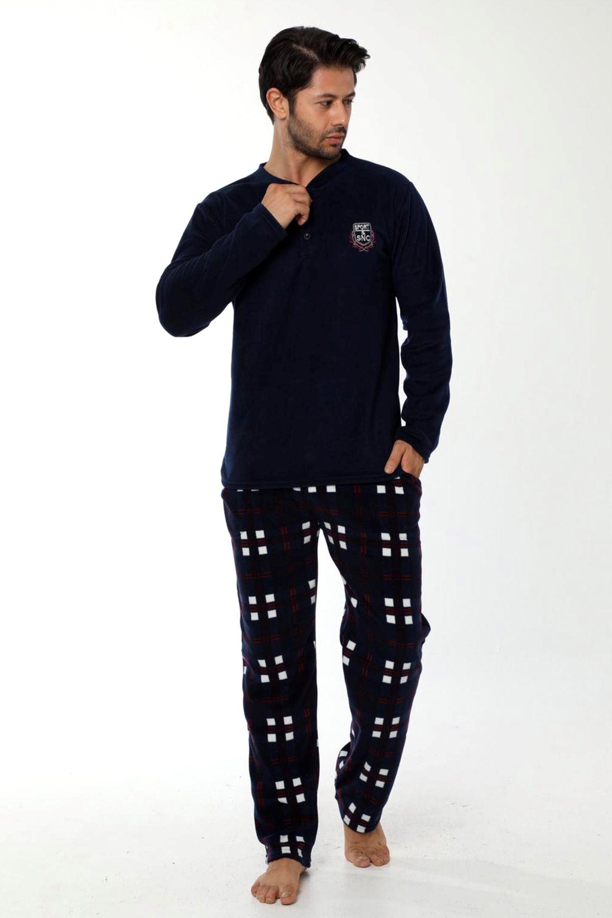 Lacivert Polar Erkek Pijama 16C-9004
