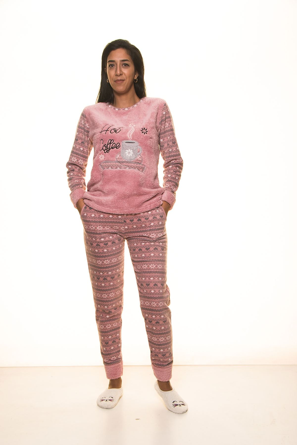 Pembe  Welsoft Polar Pijama 13E-9105P