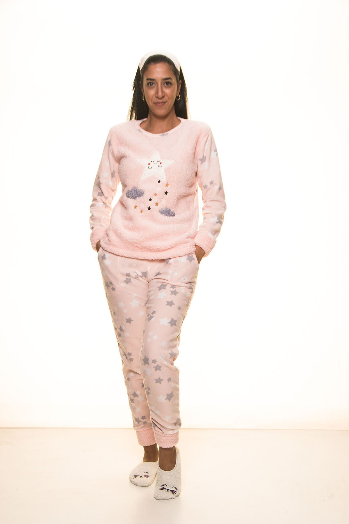 Pembe  Welsoft Polar Pijama 13D-9101Y