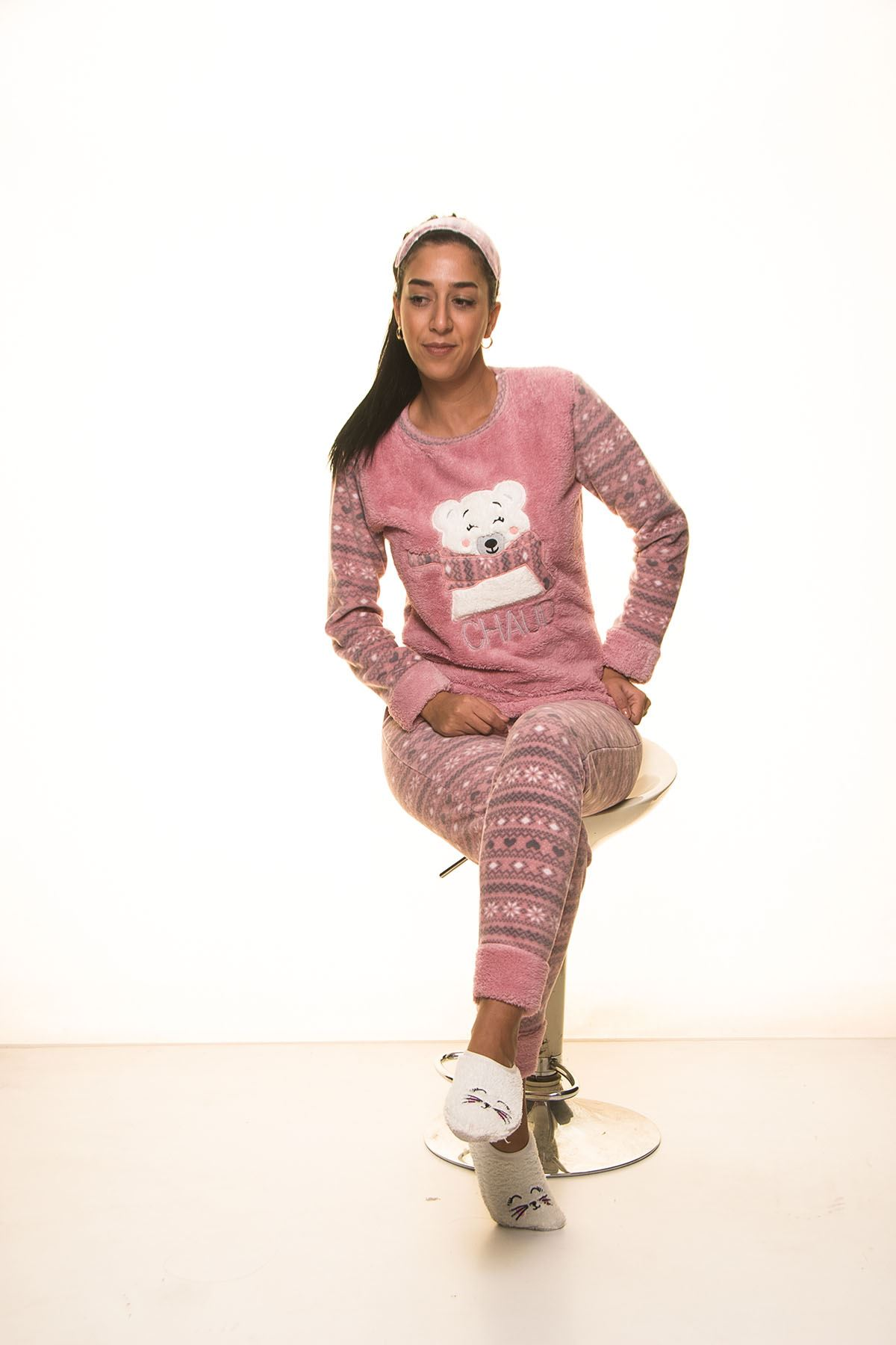 Pembe  Welsoft Polar Pijama 13D-9103P