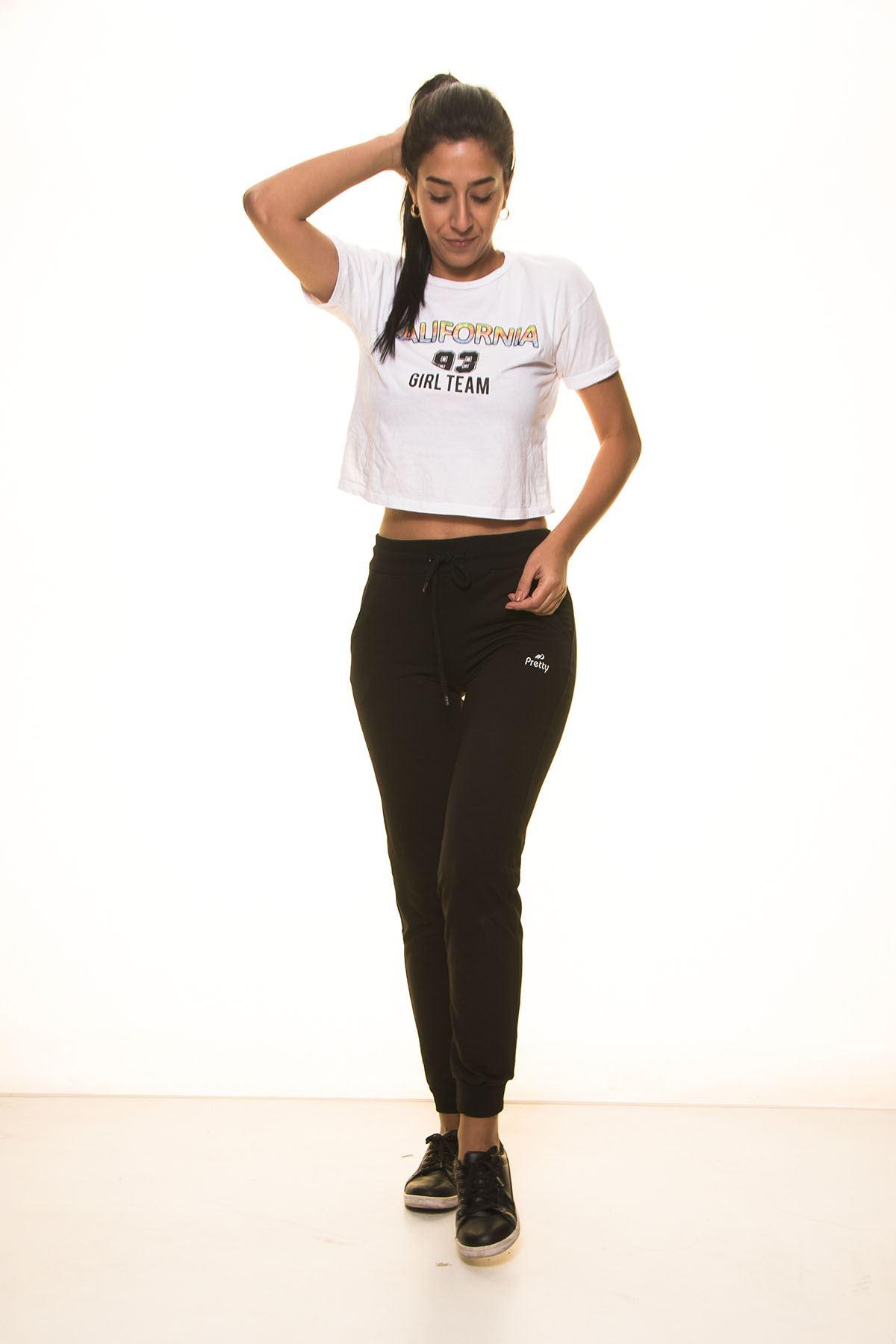 Siyah Bayan Eşofman Altı 11C-1105