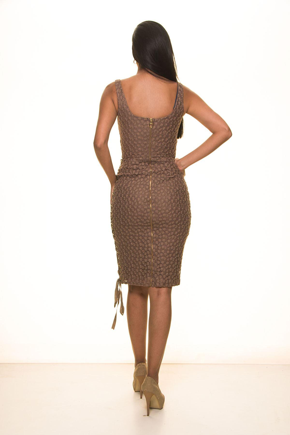 Vizon Askılı Elbise 4E-1101