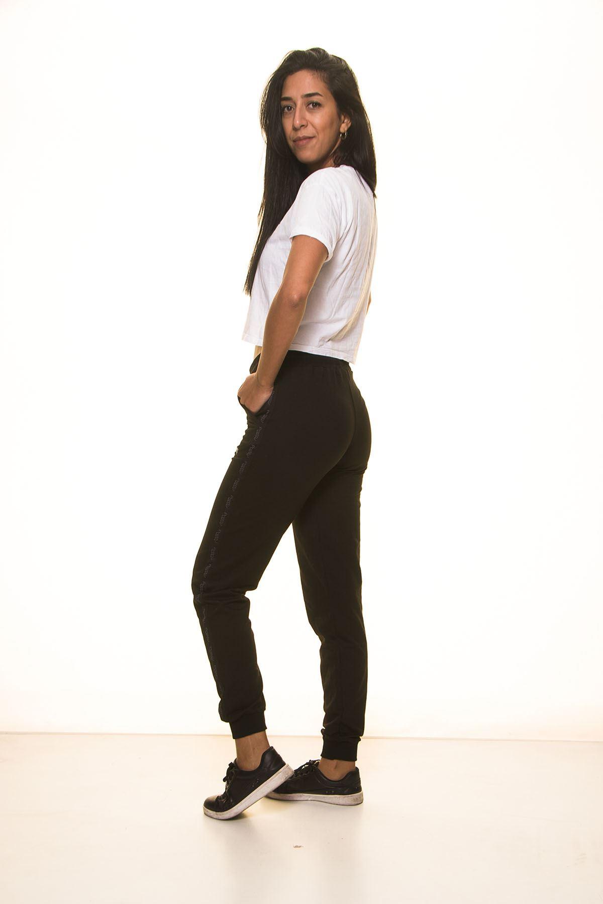 Siyah Bayan Eşofman Altı 11C-2022