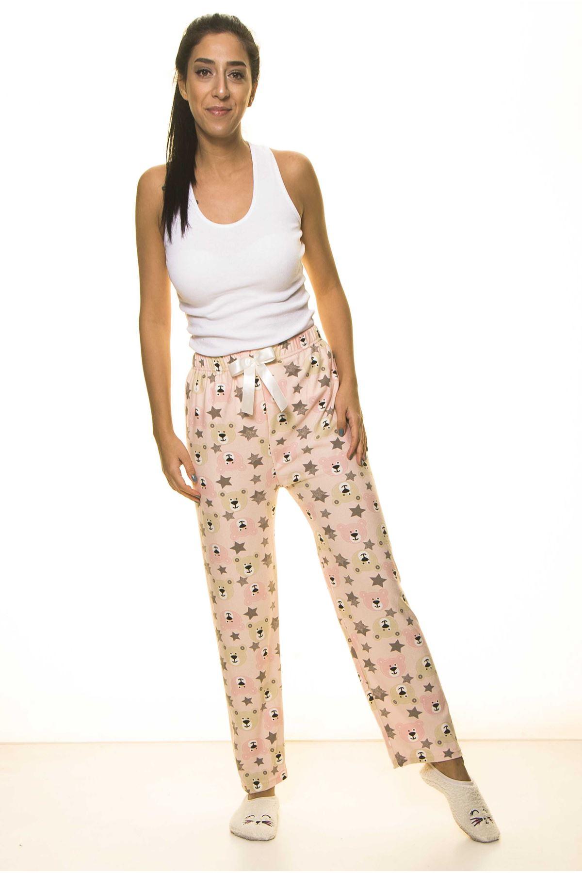 Pudra Pembe Sevimli Ev Pijama Altı 9C-2056
