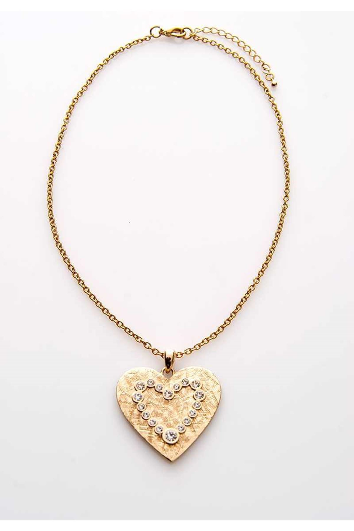 Taşlı Kalp Kolye 13Ç-107809