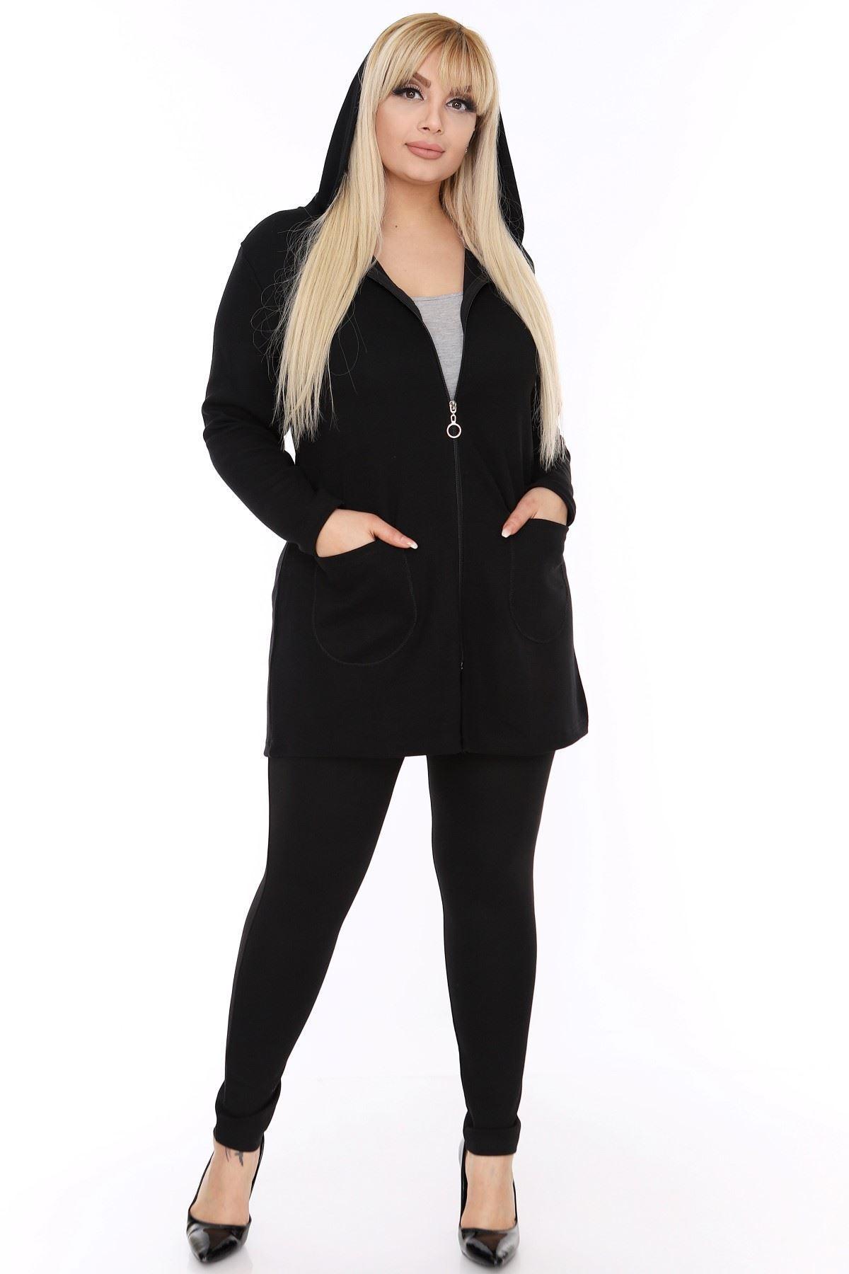 Siyah Sweatshirt 2F-0428