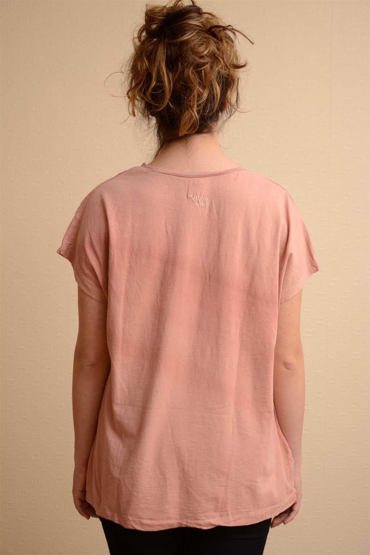 Sedef - Pileli Kısa Kollu Tshirt K1005