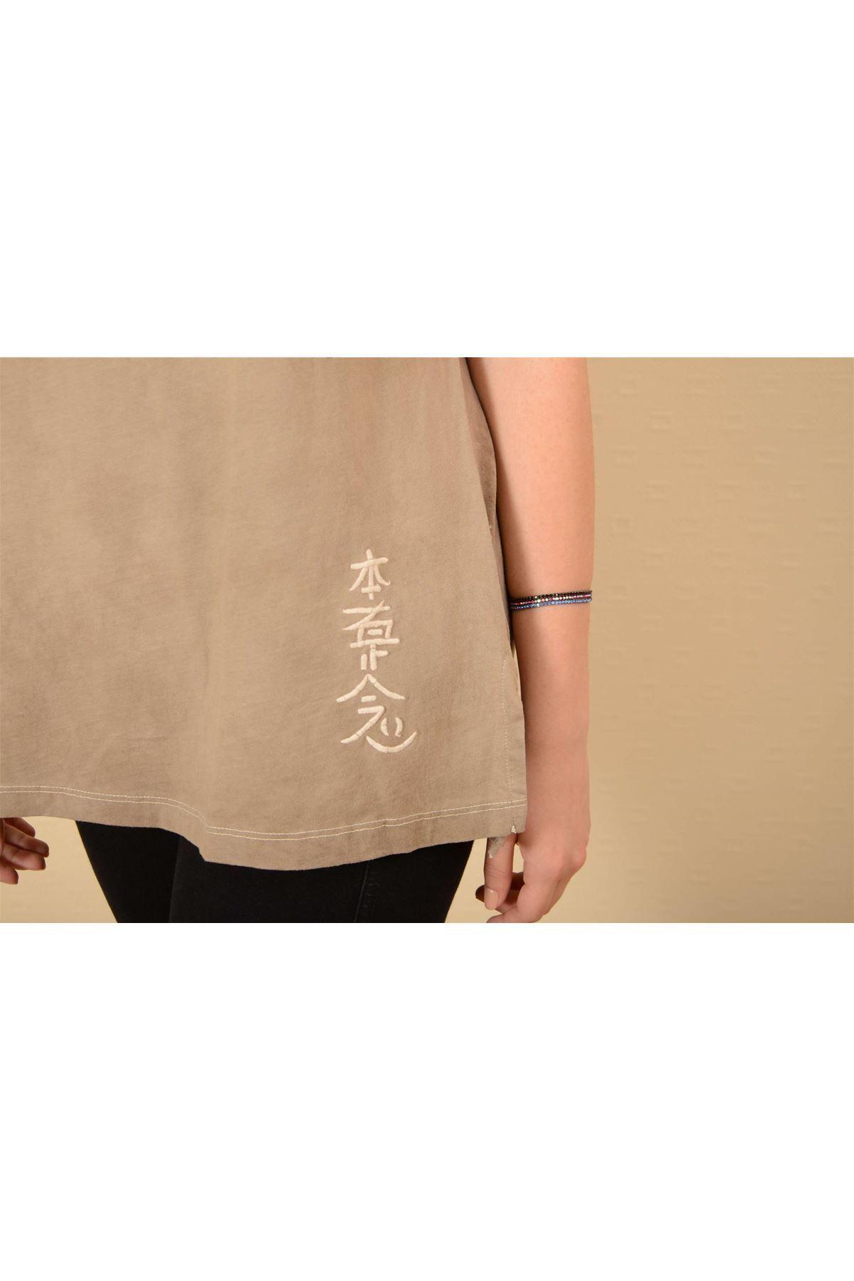 Sedef - Pileli Kısa Kollu Tshirt K1004