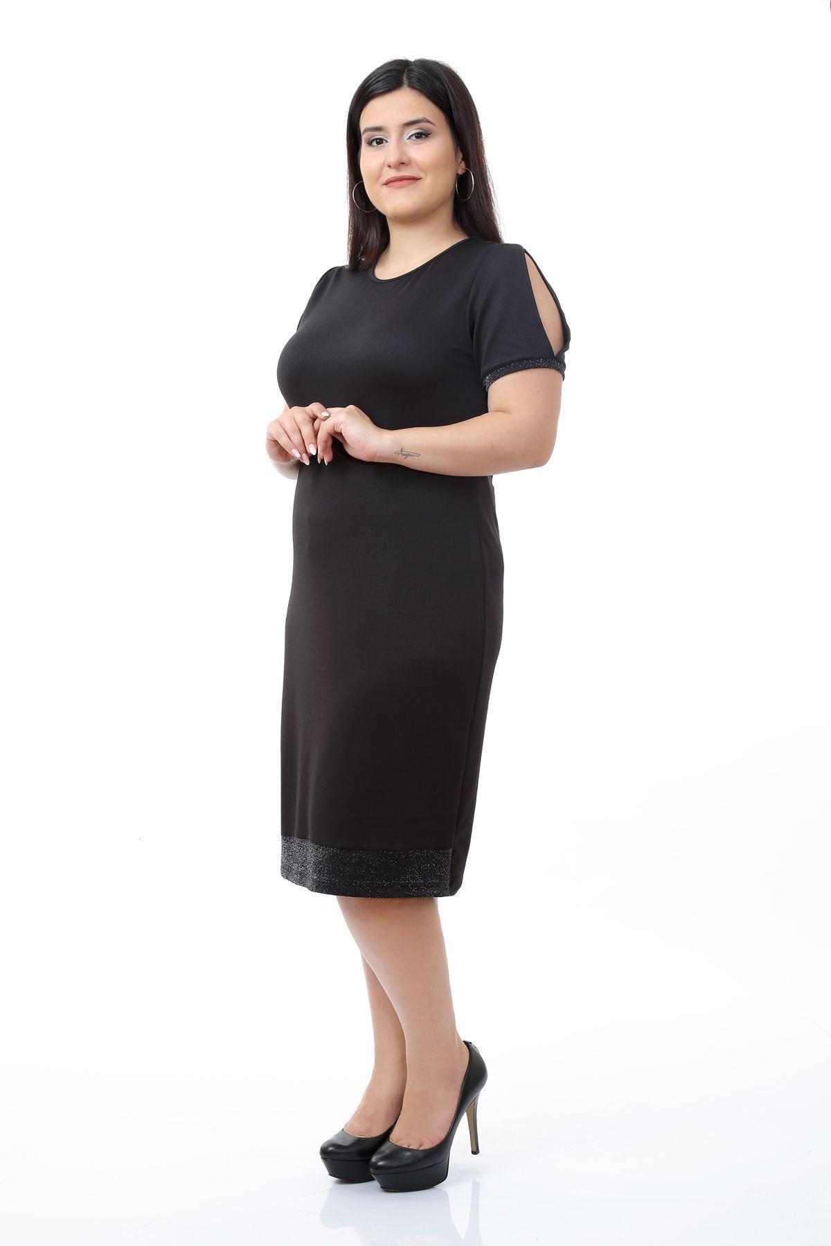 Simli Garnili Elbise 10D-0680