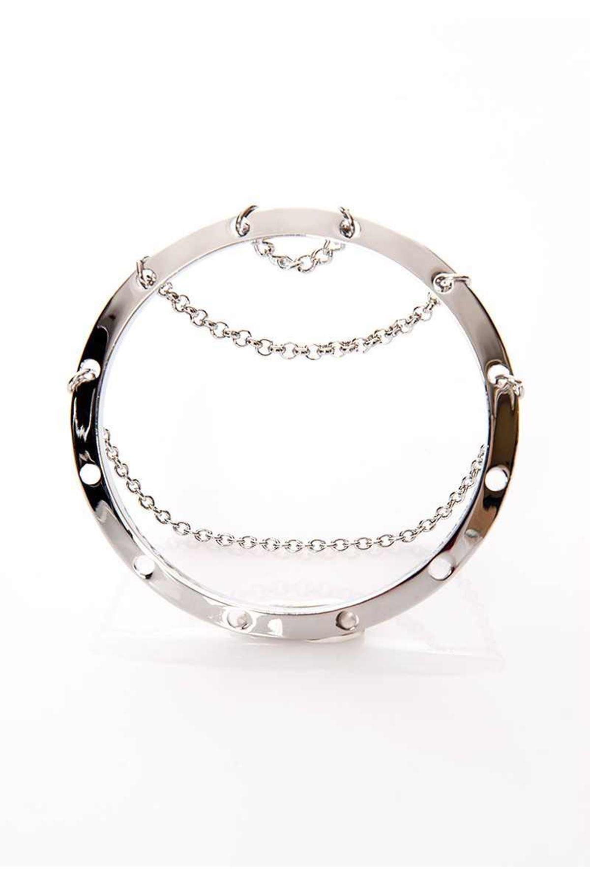 Silver Zincirli Bileklik 6Ç-108879