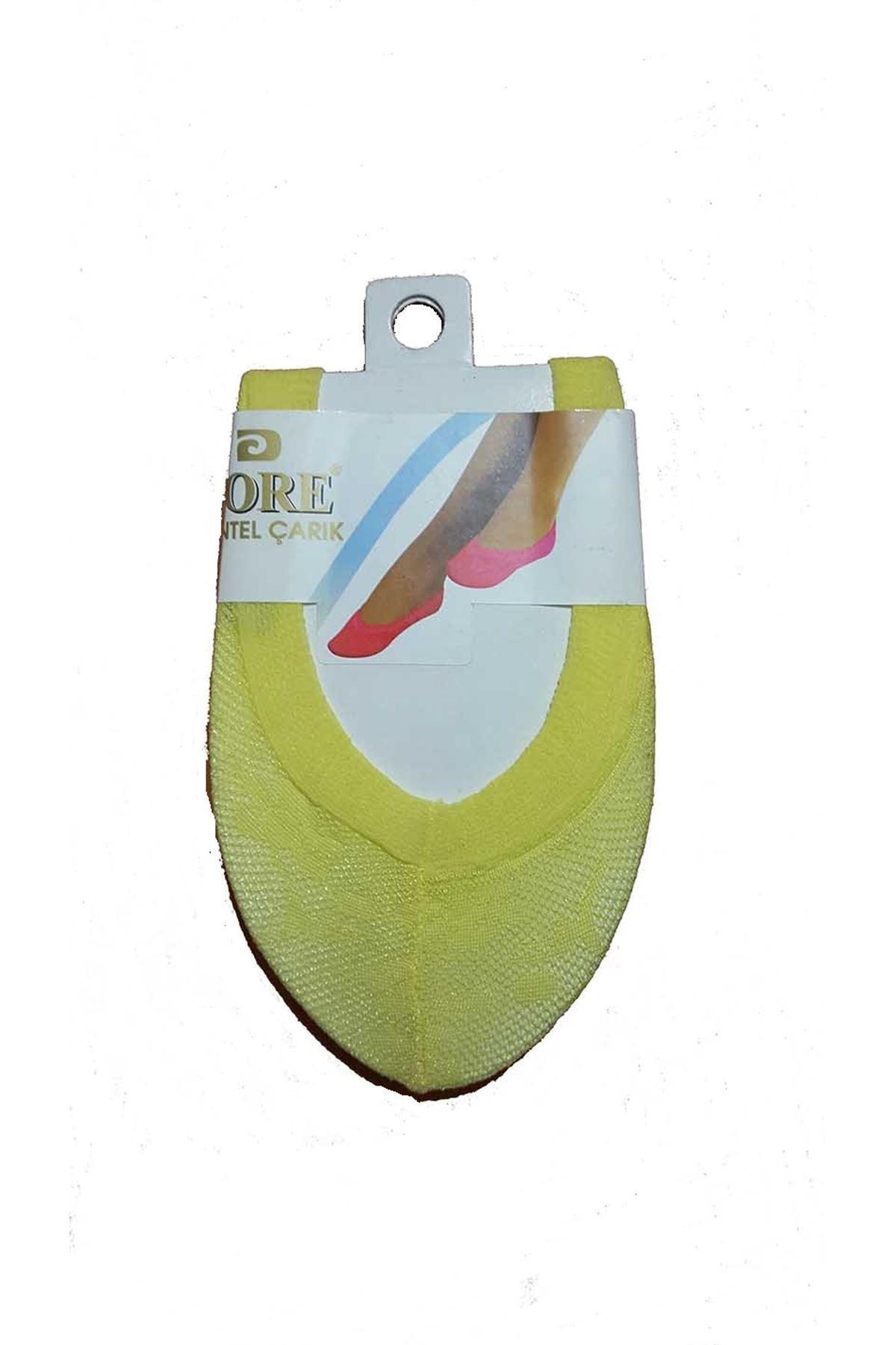 Sarı Dantel Patik Çorap 18A-SARI