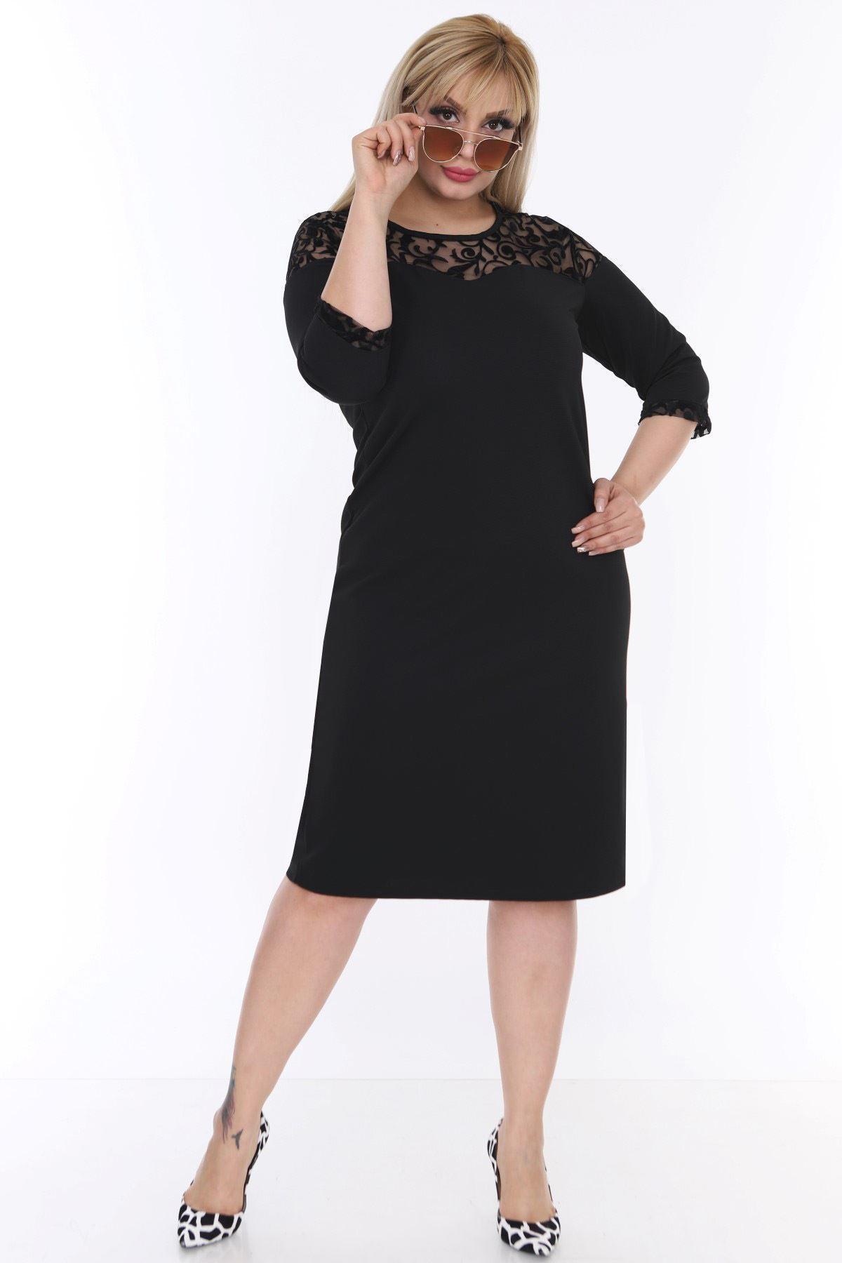 Roba Manşet Dantelli Elbise 20L-0475