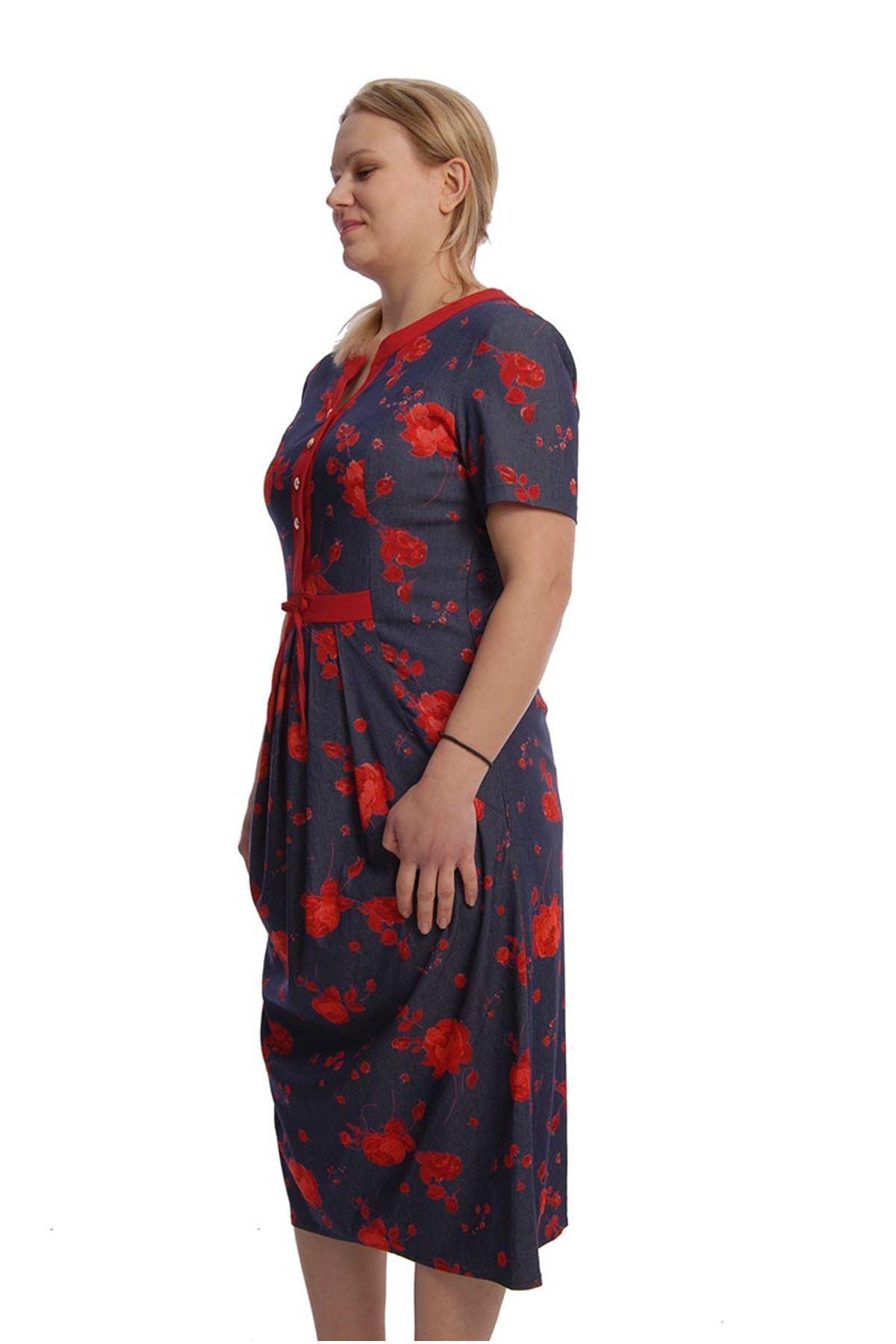 Pileli Elbise H1-65914