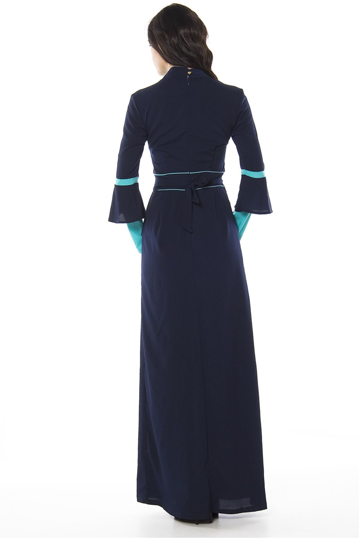 Lacivert Uzun Elbise H3-82782