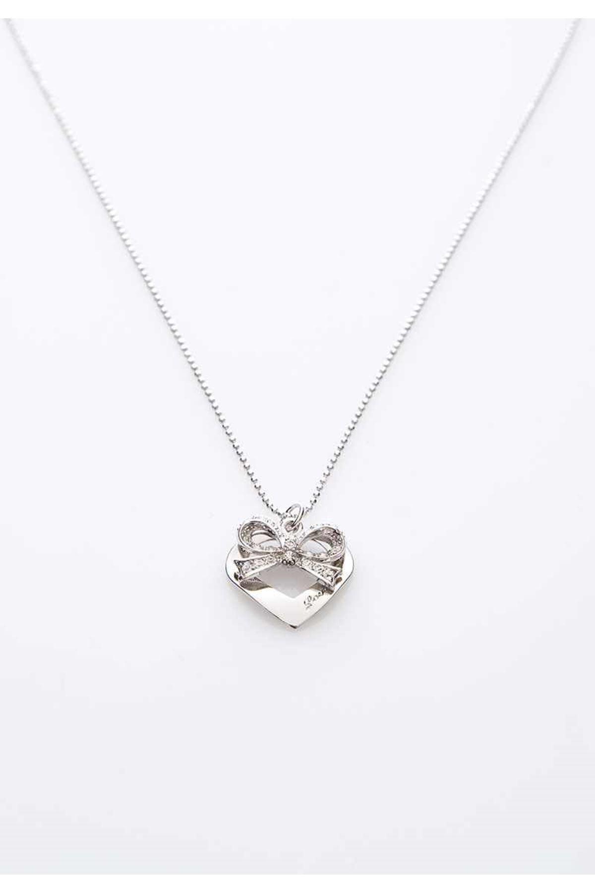 Kalpli Fiyonk Taşlı Kolye 9Ç-103573