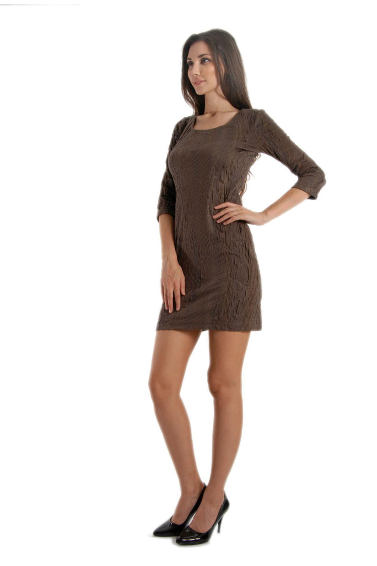 Kahverengi Elbise G3-53815