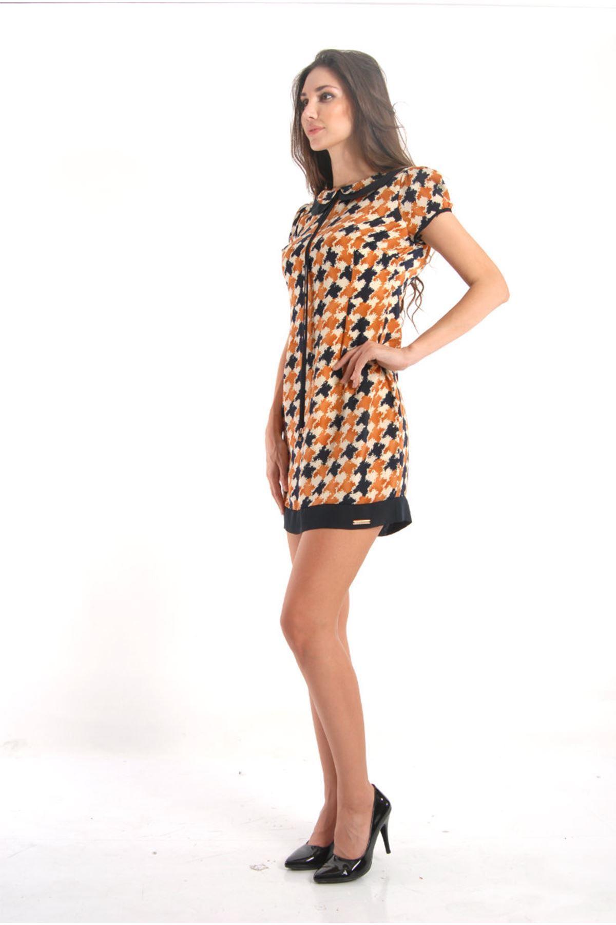 Kadın Bebe Yaka Elbise H9-53799