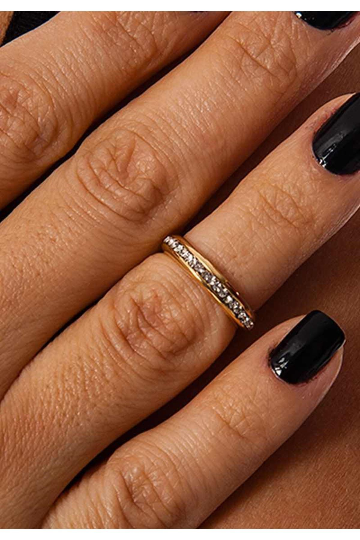 Gold Taşlı Eklem Yüzüğü 2Ç-109107