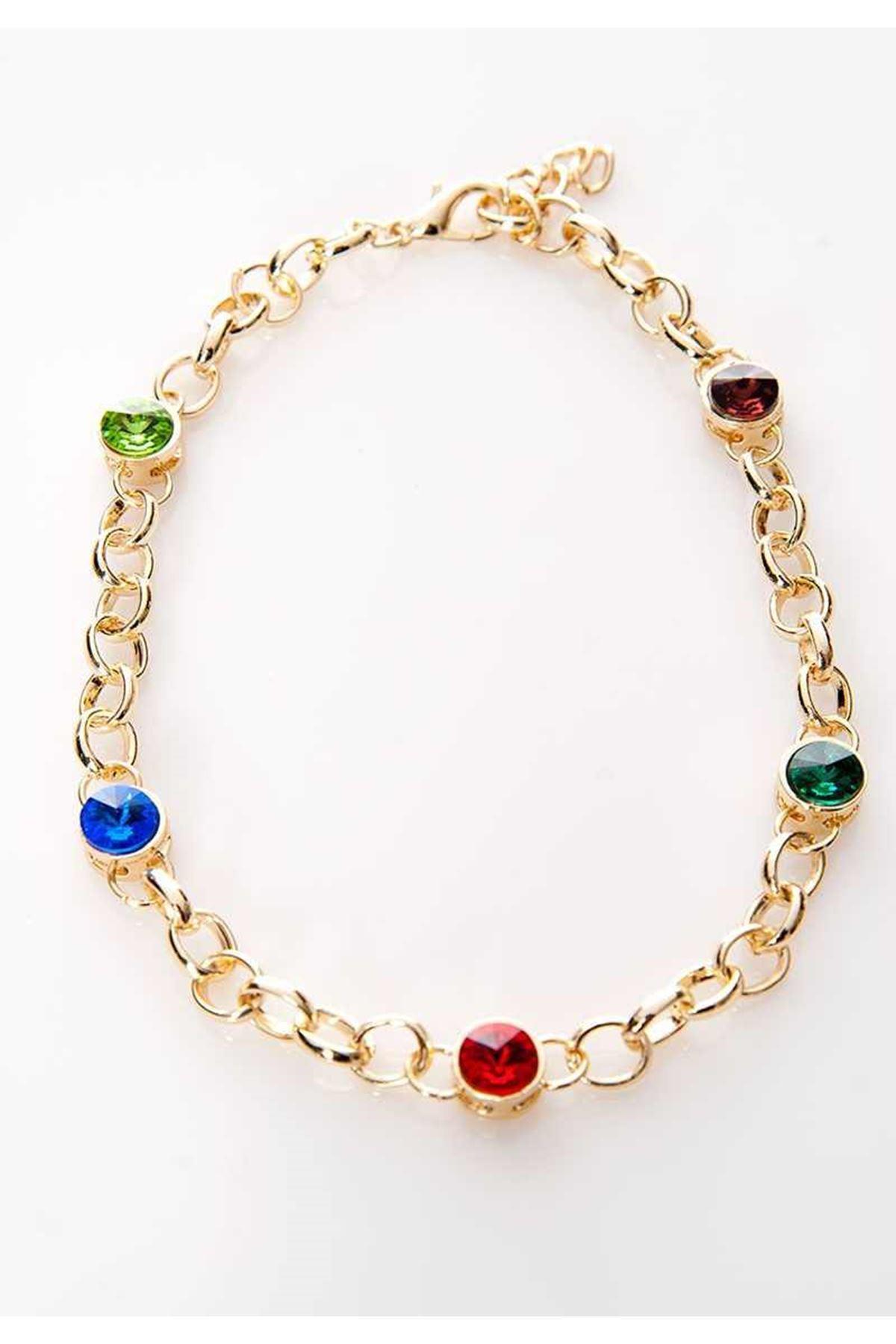 Gold Renkli Taşlı Bileklik 4Ç-108966