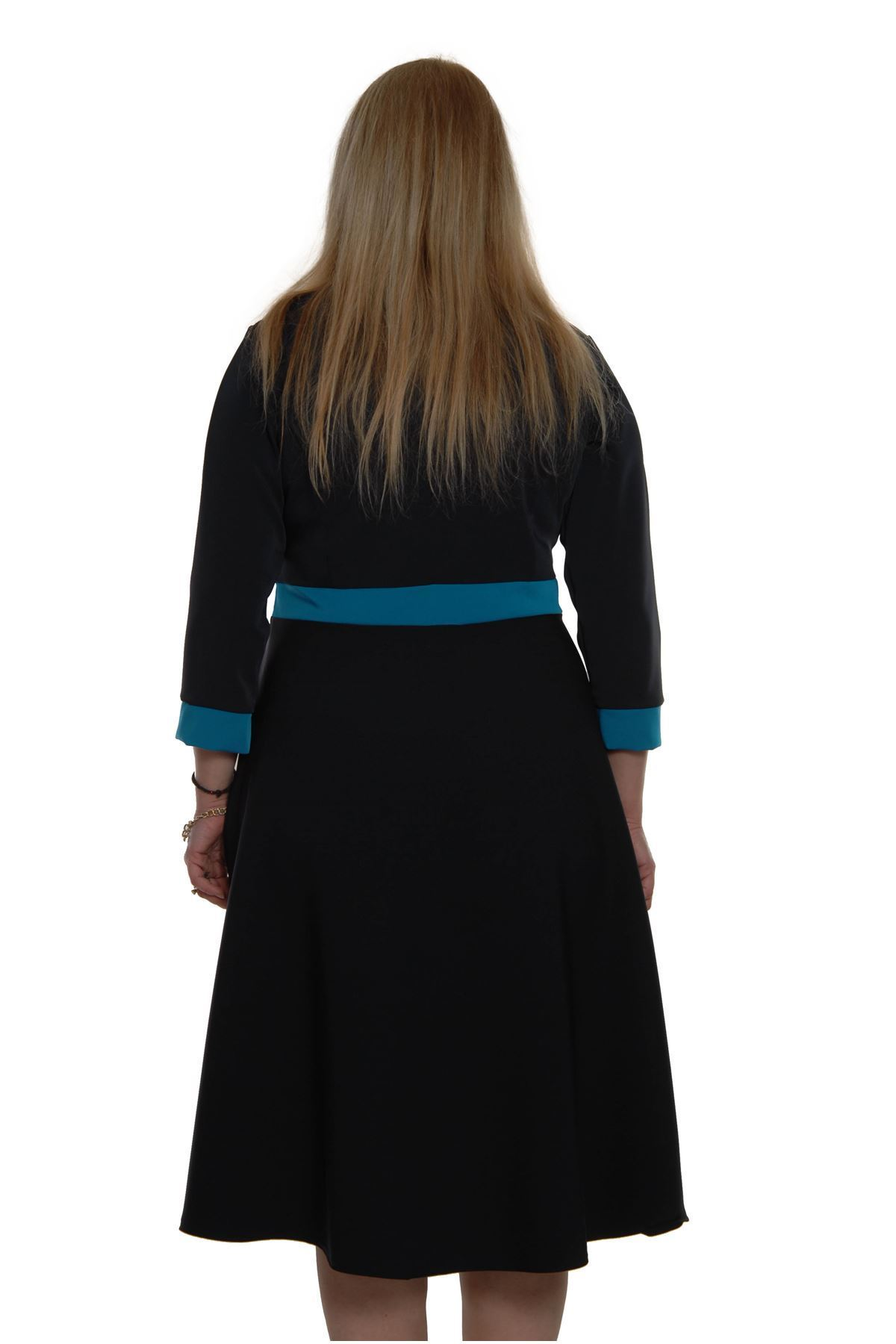 Cepli Büyük Beden Elbise H2-69299