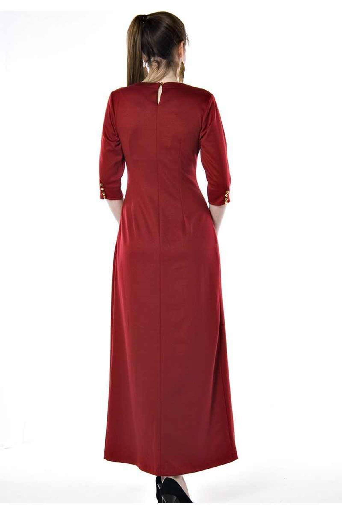 Bordo Uzun Elbise G1-67433