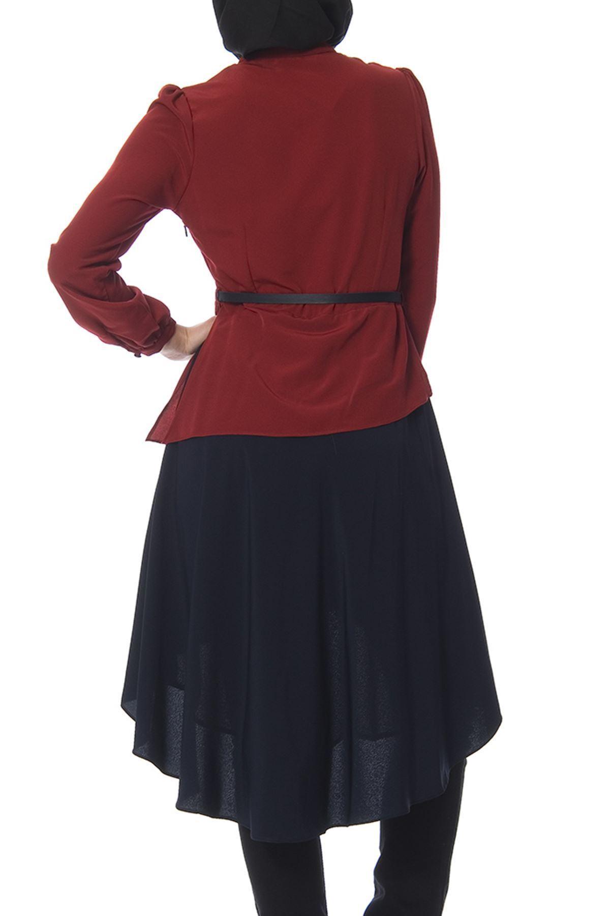 Bordo - Lacivert Tunik J7-100438