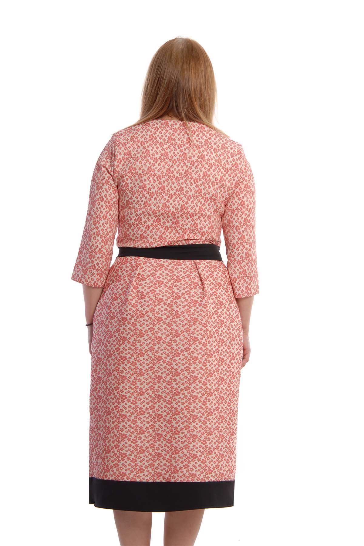 Belden Oturtma Elbise F9-65589