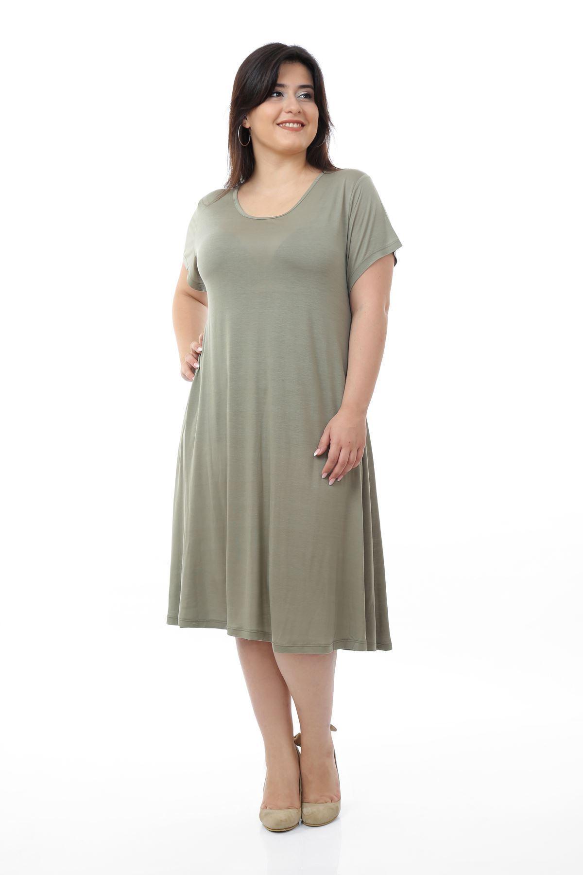 Açık Yeşil Elbise 10A-0673