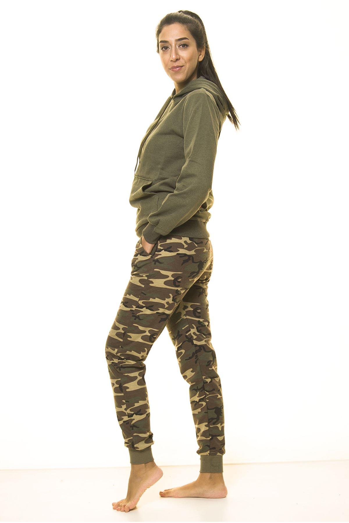 Kamuflaj Asker Desenli  Eşofman Altı 7D-2040