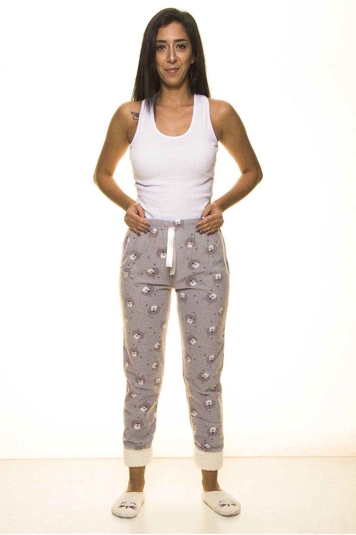 Kışlık Polar Pijama Altı 21B-1495