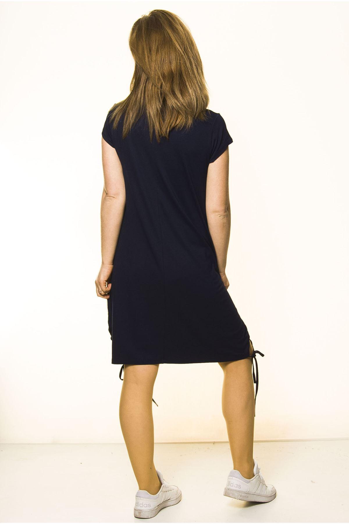 Lacivert Kadın Spor Şık Elbise 5D-2093
